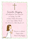 Girl's First Communion Stationery