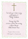 Pink Cross Folded Notecard