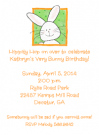 Peeking Bunny Photo Card Invitation