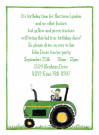 Green Tractor Invitations