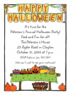 Halloween Party Room Invitations