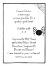 Black Spider Invitations