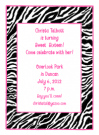 Zebra Print Invitation