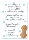 Peanut Boy Invitation