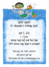 Swimming Boy Invitation