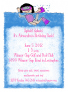 Swimming Girl Invitation