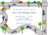 Street Cars Invitations