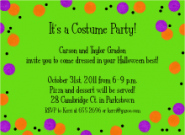 Halloween Dots Invitation