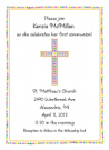 Rainbow Pink Cross Invitations