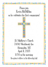 Colorful Blue Cross Address Label