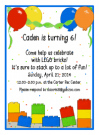 Building Blocks Party Invitations