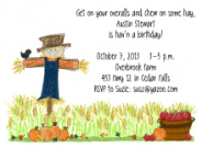 Scarecrow Invitations