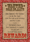 Western Outlaw Poster Invitations