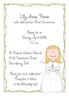 Girl's First Communion Invitation Envelope