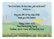 Easter Sunrise Invitation