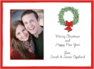 Christmas Holly Wreath Photo Card Envelope