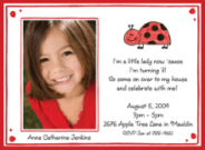 Ladybug Birthday Photo Invites