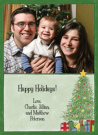 Christmas Tree Scene Photo Card Envelope