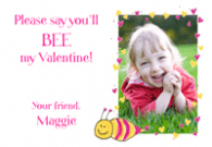 Valentine Bee Waterproof Label