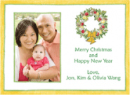 Williamsburg Wreath  Personalized Christmas Card