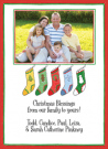 Christmas Stockings For Five Photo Card Envelope
