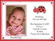 Ladybug Kids Photo Valentine Cards