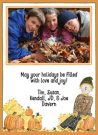 Scarecrow Photo Invitations