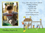 Playground For Boys Photo Invitations