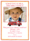 Fire Truck Photo Invitations