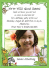 Zoo For Girls Photo Invitations