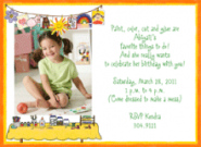 Arts And Crafts Photo Invitations