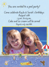 Swimming Pool Photo Invitations