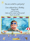 Swimming Pool For Boys Photo Invitations