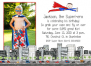 Superhero Photo Invitations