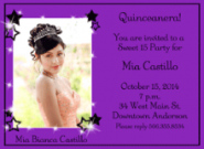 Quincea�era Birthday Invitation