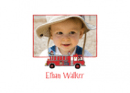 Fire Truck Photo Card Stationery