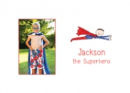 Superhero Photo Card Stationery