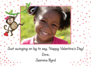 Monkey Girl Kids Photo Valentine Cards