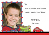 Valentine Cruisin Flat Note Card