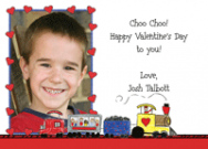 Valentine Train Flat Note Card