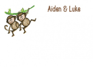 Two Monkeys Calling Card Design