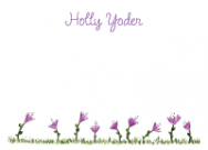 Purple Flowers Personal Calling Cards