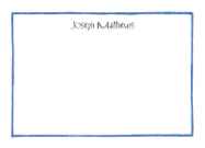 Blue Line Border Stationery
