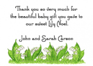 Lilies Of The Valley Thank You Note