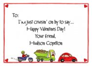 Valentine Cruisin Notecard Envelope