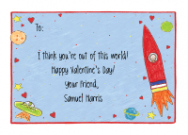 Space Kids Photo Valentine Cards