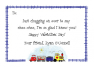 Train Kids Photo Valentine Cards