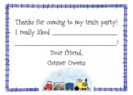 Train Engine Stationery