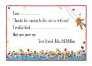 Circus Thank You Note