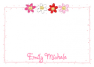 Pink Happy Daisy Row Waterproof Label
